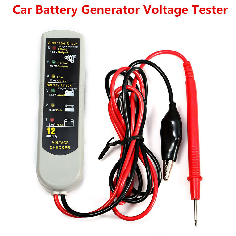 ae350 car battery generator voltage tester alternator checker diagnostic tool ebay. Black Bedroom Furniture Sets. Home Design Ideas