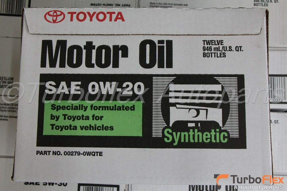 Toyota synthetic motor oil sae 0w 20 case of 12 quarts for Sae 0w 20 synthetic motor oil