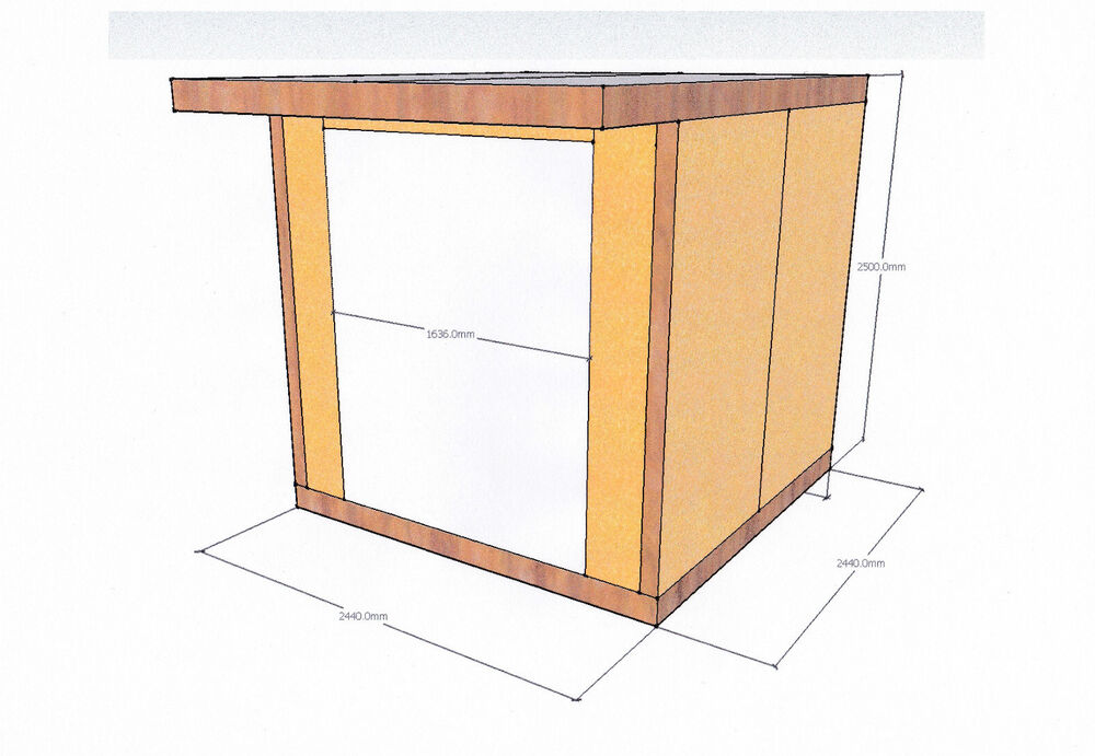 Insulated garden studio office room pod diy self build kit for How to build with sips