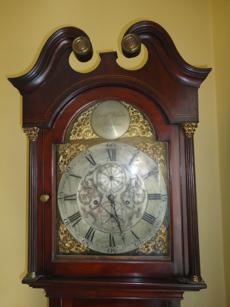ANTIQUE LONG CASE GRANDFATHER CLOCK 230 Years Old , Made ...