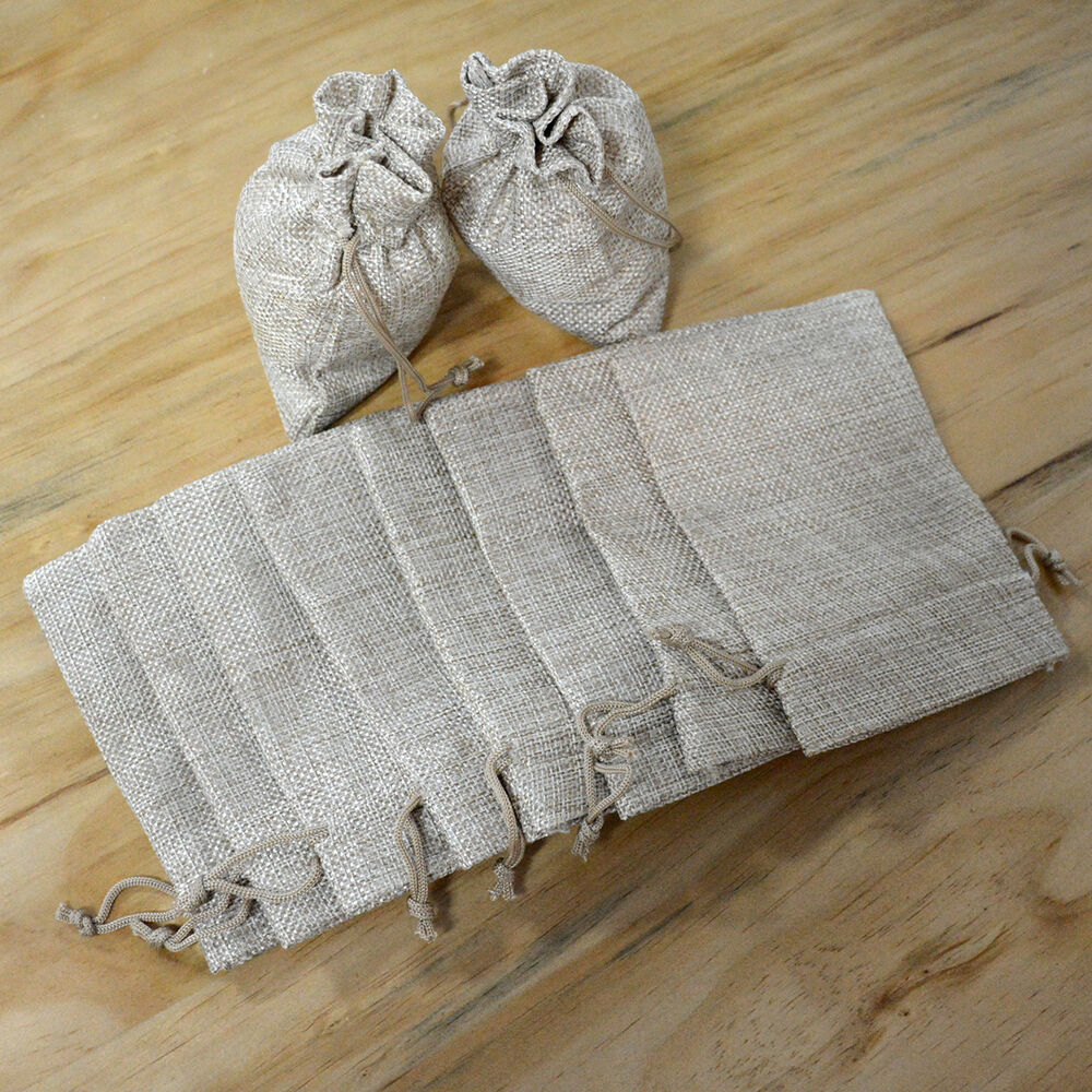Gift Bags Bulk Wedding Uk : ... Wedding Hessian Burlap Jute Favour Gift Xmask Bags Bulk Sack eBay