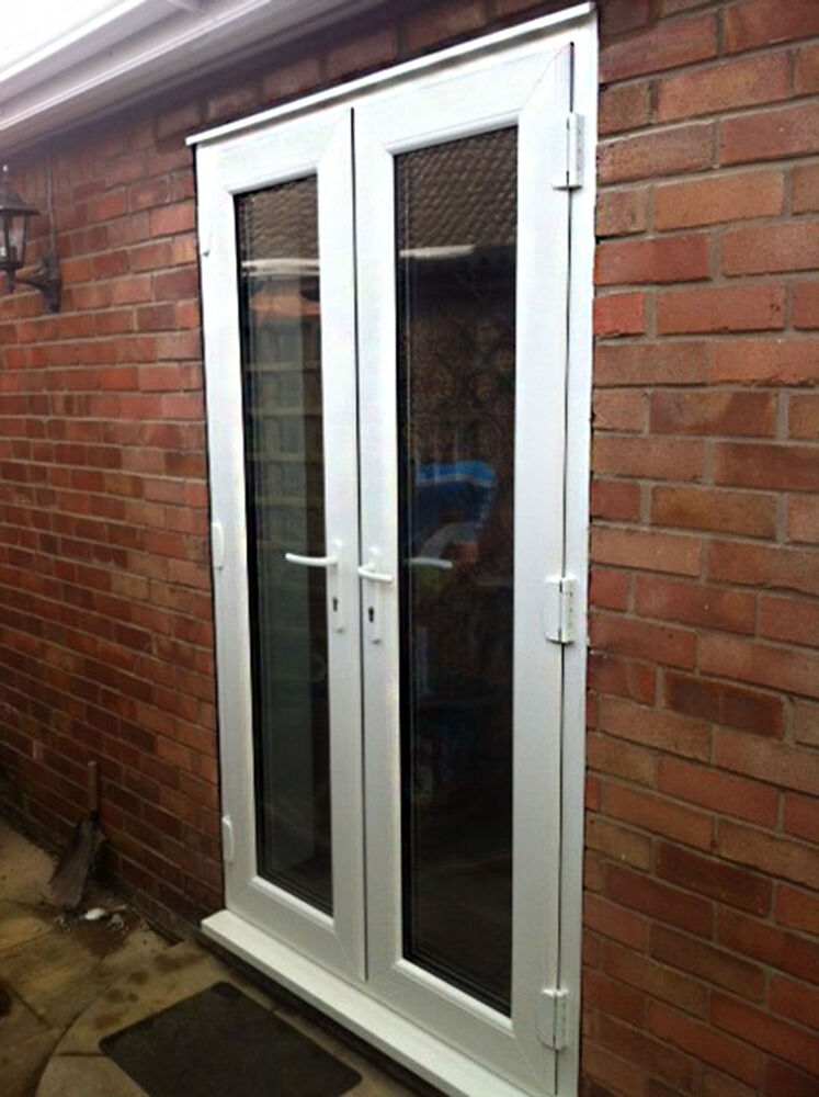 White upvc patio french door 1000 1200mm wide new not for Double wide patio doors