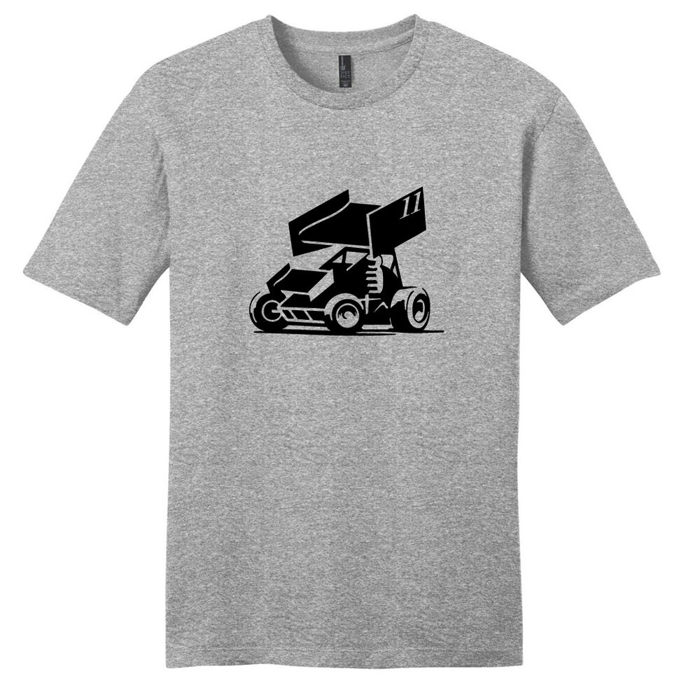 Custom sprint car t shirt unisex personalized racing for Custom racing t shirts