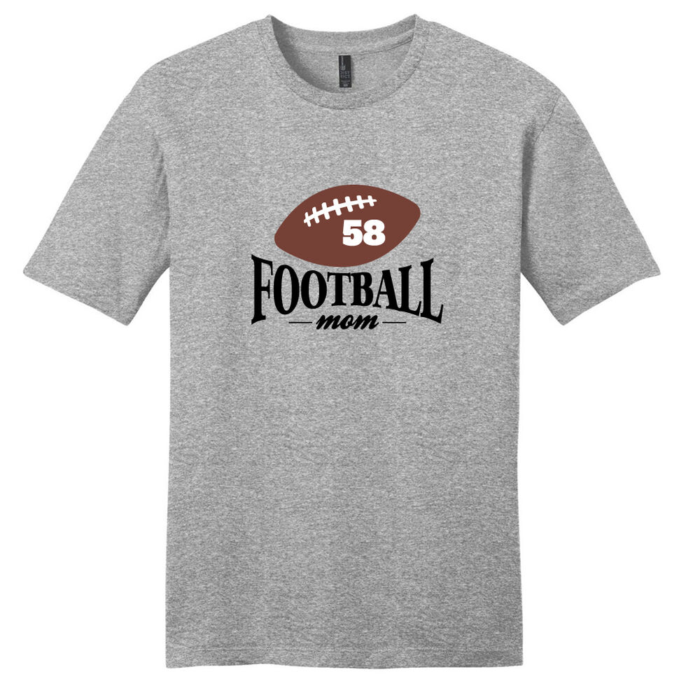 f484ae372 Details about Custom Football Mom T-Shirt - Women's Personalized Sport  Shirts