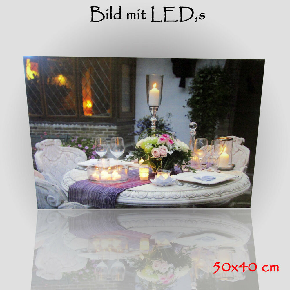 christmas wandbild bild mit led beleuchtung romantik leuchtbild leinwand bild ebay. Black Bedroom Furniture Sets. Home Design Ideas