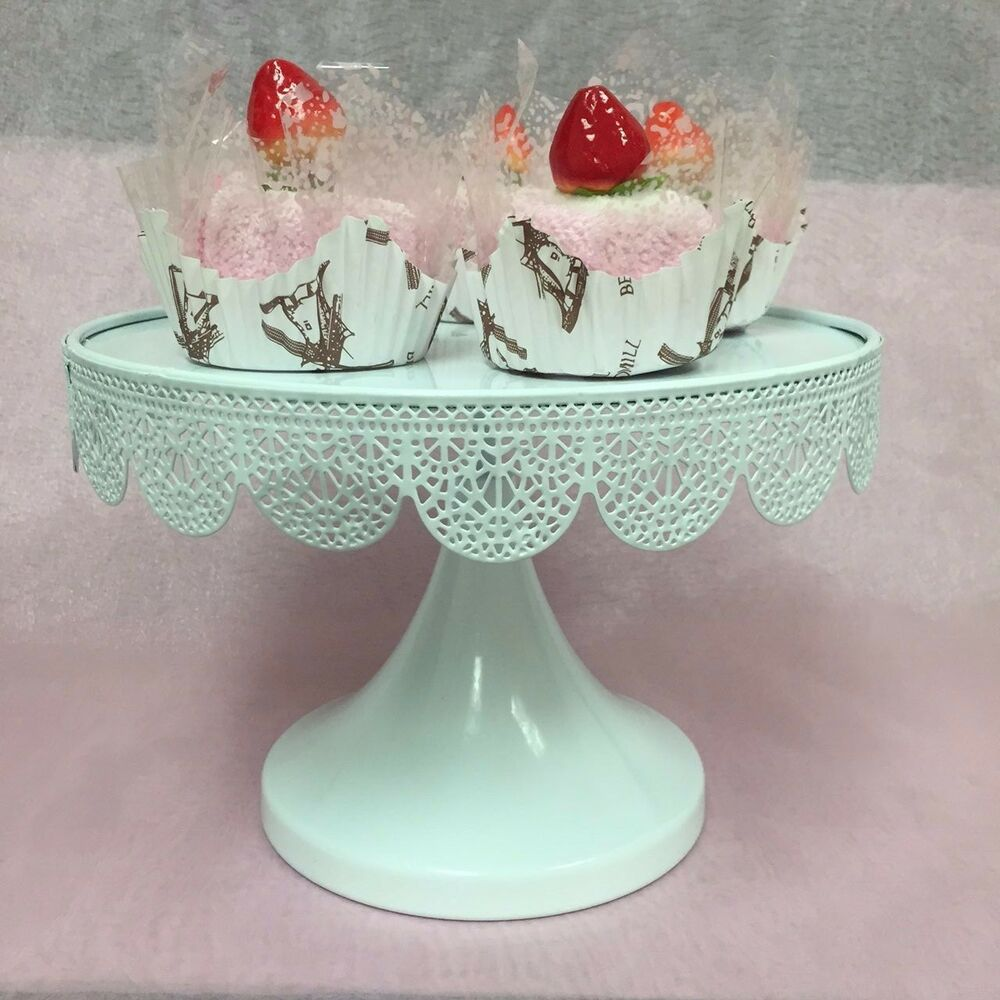 cake plates for wedding set of 2 cake stand metal 9 5 quot modern dessert 2275