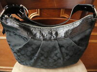 Authentic COACH Black Leather Gallery Tote Handbag