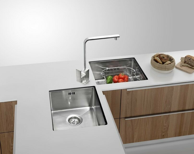 Corner Kitchen Square Double Sink