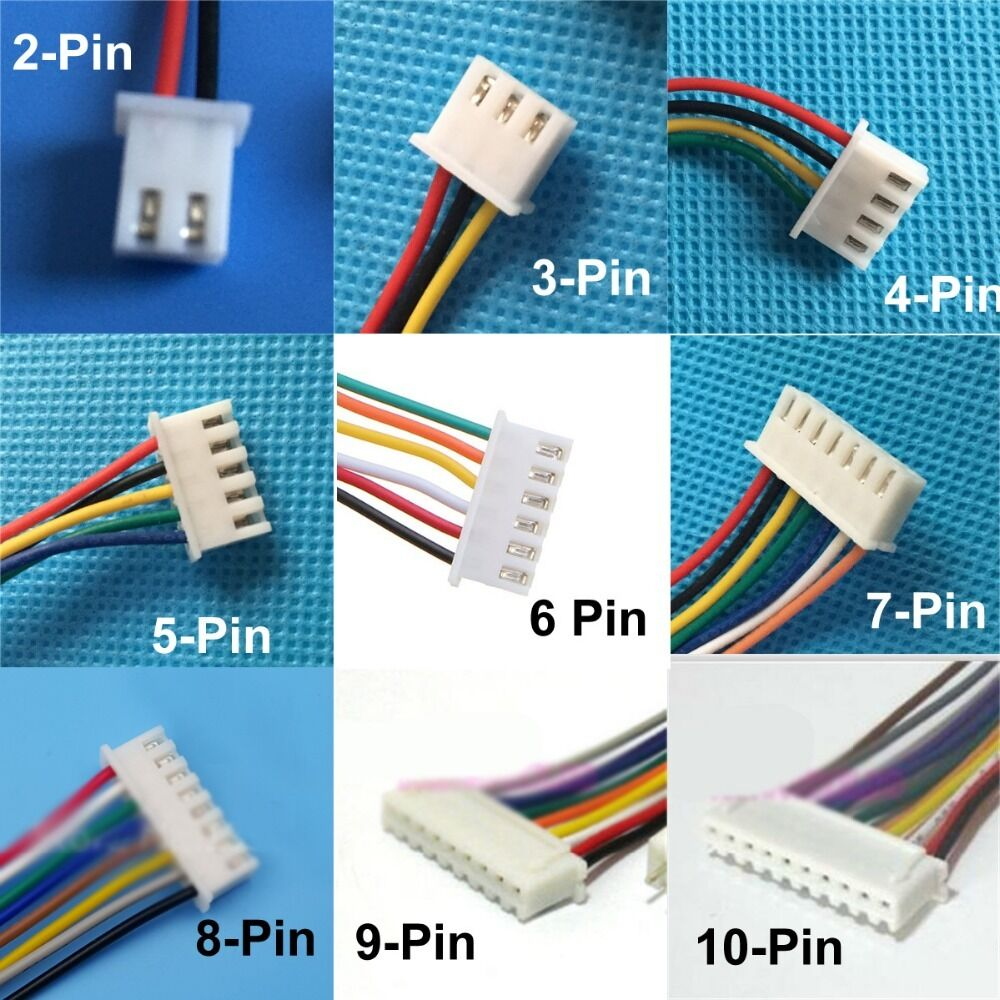 5x Male RC Lipo Battery Balance Charger Connector Plug Cable Wire ...