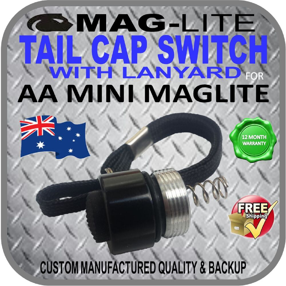Mini Maglite Upgrade Aa Incandescent Tail Cap Switch W
