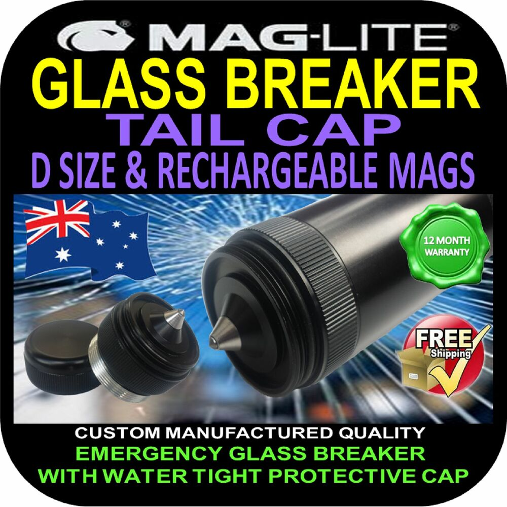 Maglite Flashlight Torch Tail Cap Upgrade Glass Breaker D