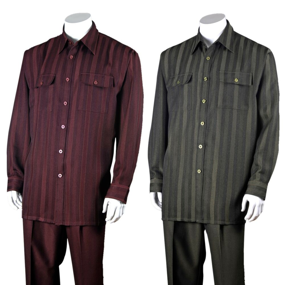 MEN'S TWO PIECE WALKING SUIT STRIPED Polyester DESIGN BY