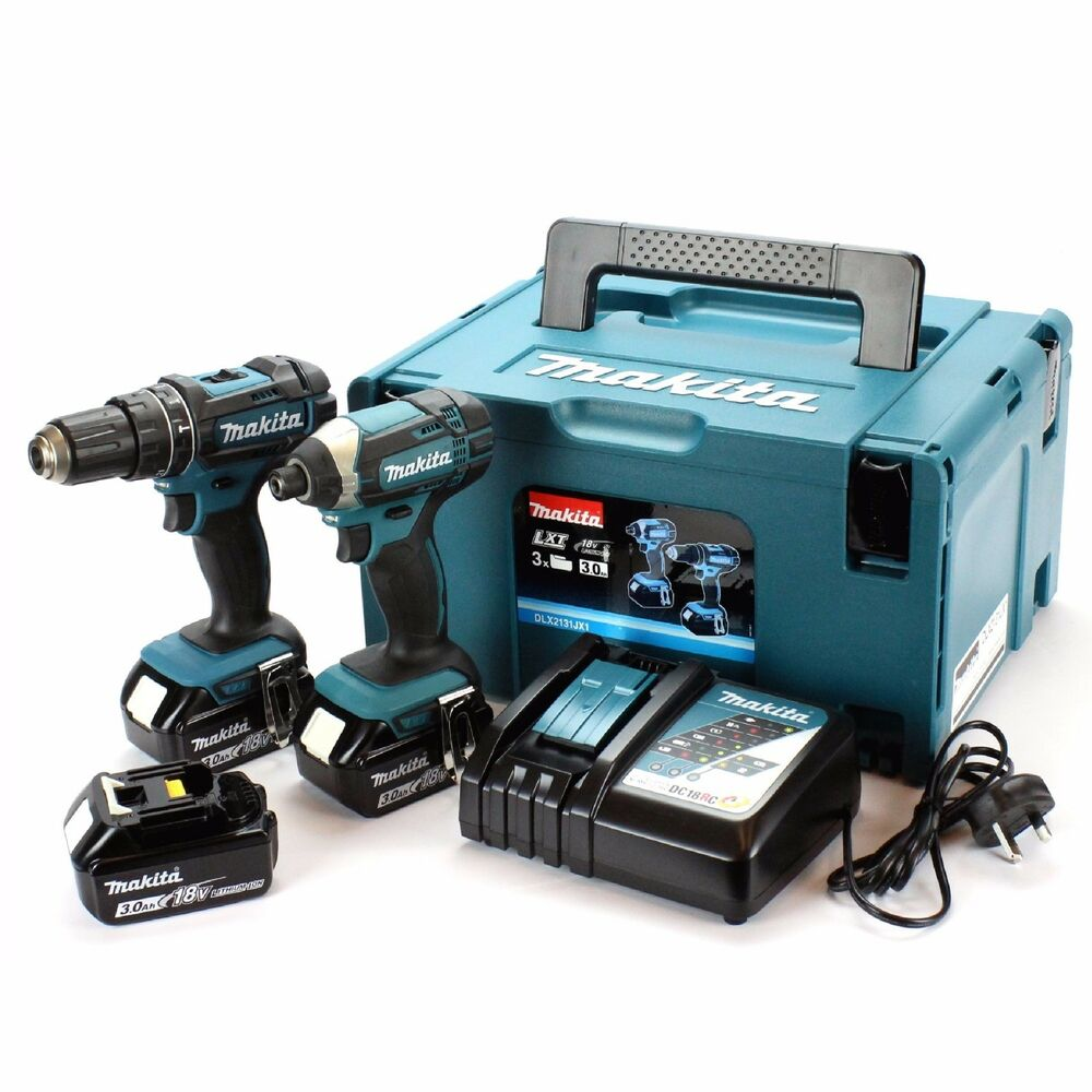 makita dlx2131jx1 twin pack dhp482 combi dtd152 impact driver 3 x 3 0ah batt ebay. Black Bedroom Furniture Sets. Home Design Ideas