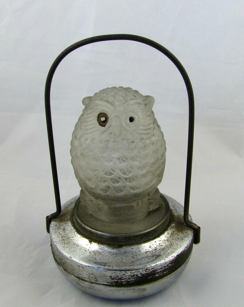 Vintage owl lamps - Vintage Art Deco 1930s Glass Owl Battery Operated Owl Lamp Made By Pif Co Layby Ebay