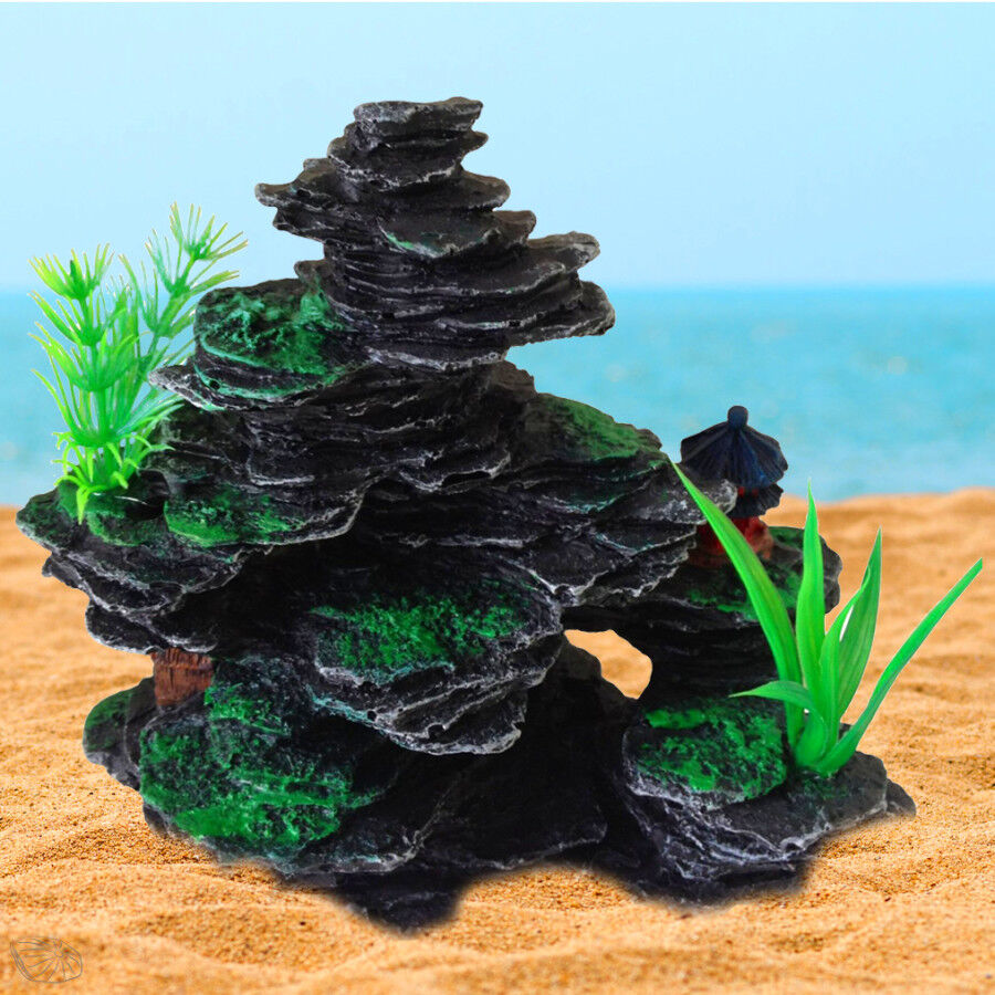 Aquarium fish tank ornament decoration stone rock for Aquarium stone decoration