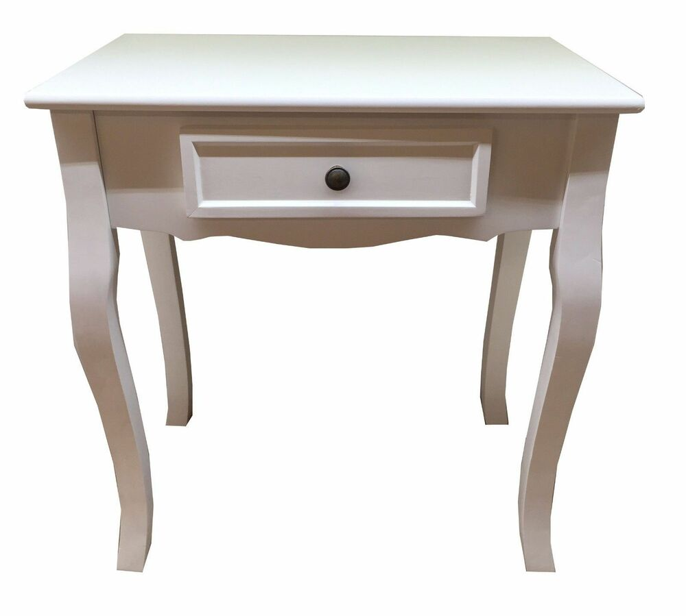 New white wooden dressing table telephone side end table for White end table