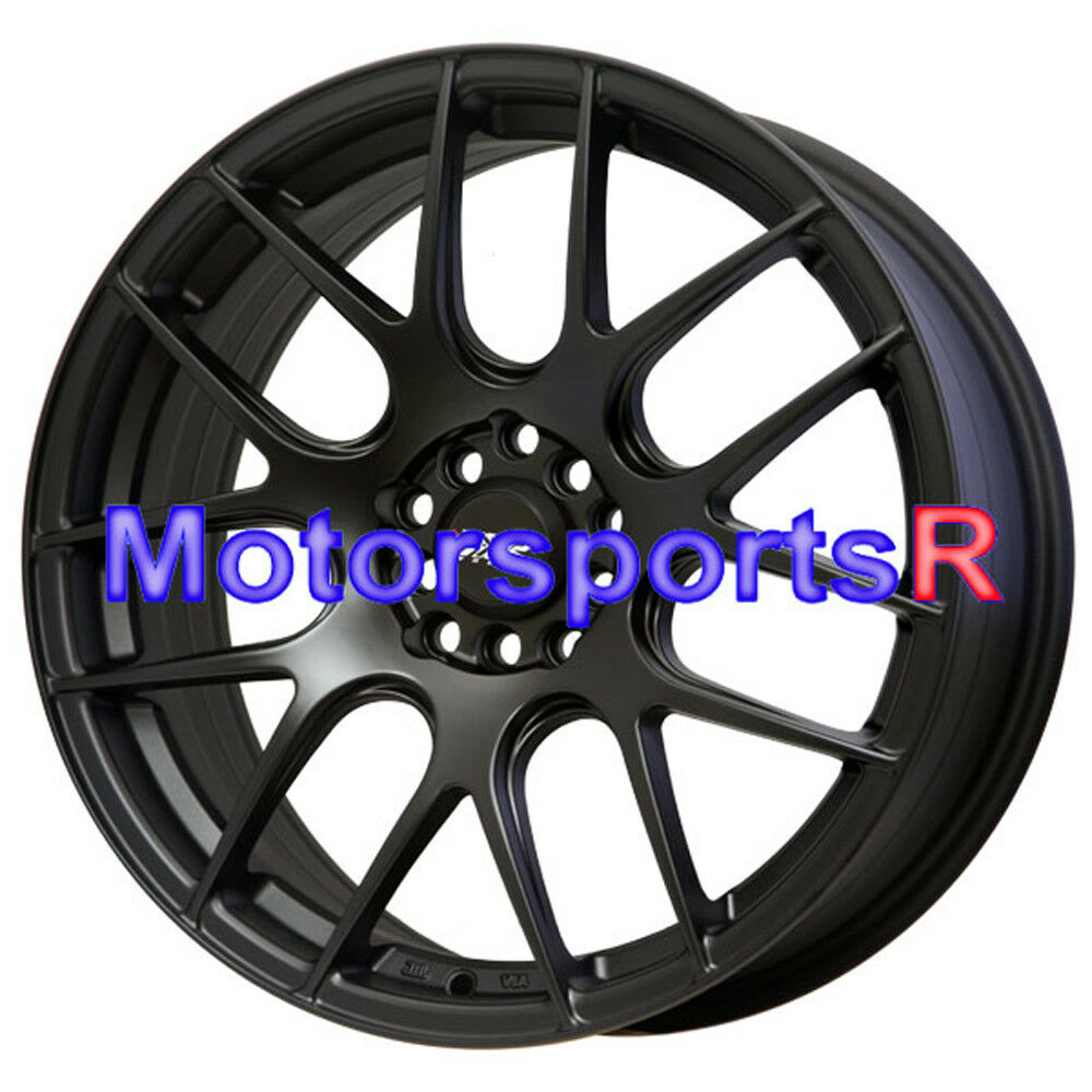 XXR 530 17 17x7 Flat Black Wheels Rims Concave 03 Acura CL