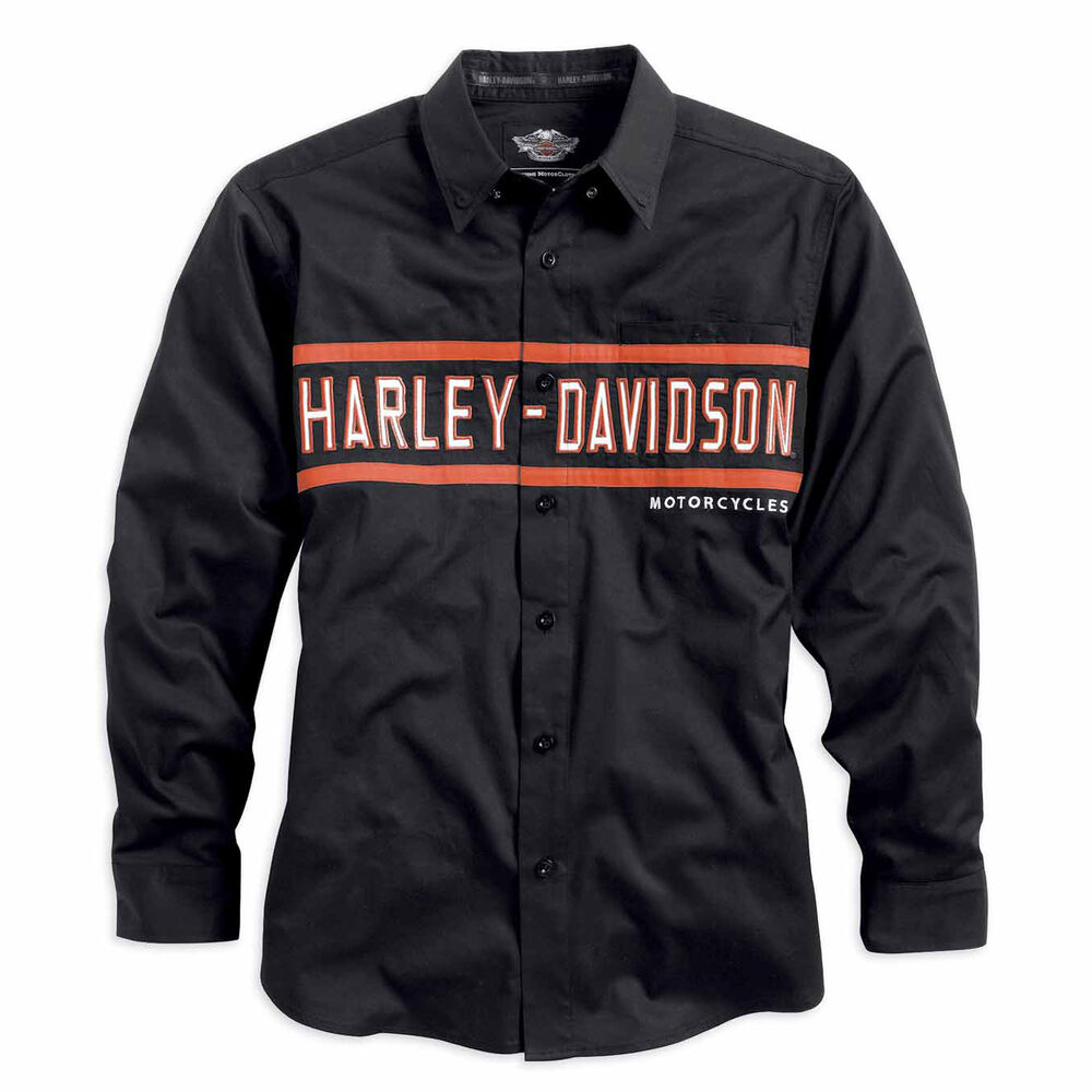 Harley Davidson Long Sleeve Button Up Shirts