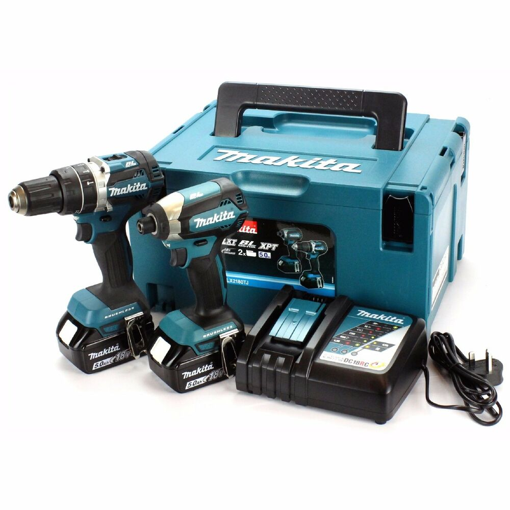 makita dlx2180tj twin pack brushless combi drill impact. Black Bedroom Furniture Sets. Home Design Ideas