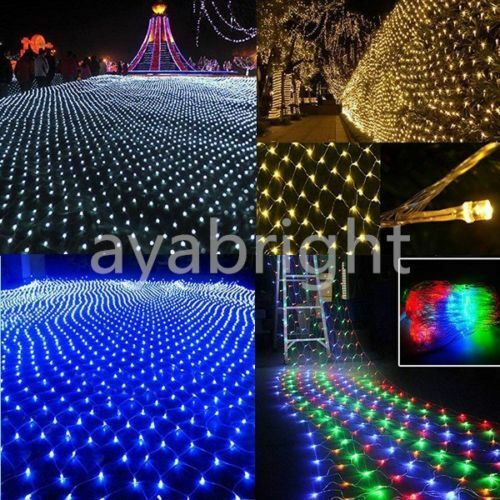 connectable 3mx2m 3mx3m 6mx4m led net string fairy lights. Black Bedroom Furniture Sets. Home Design Ideas