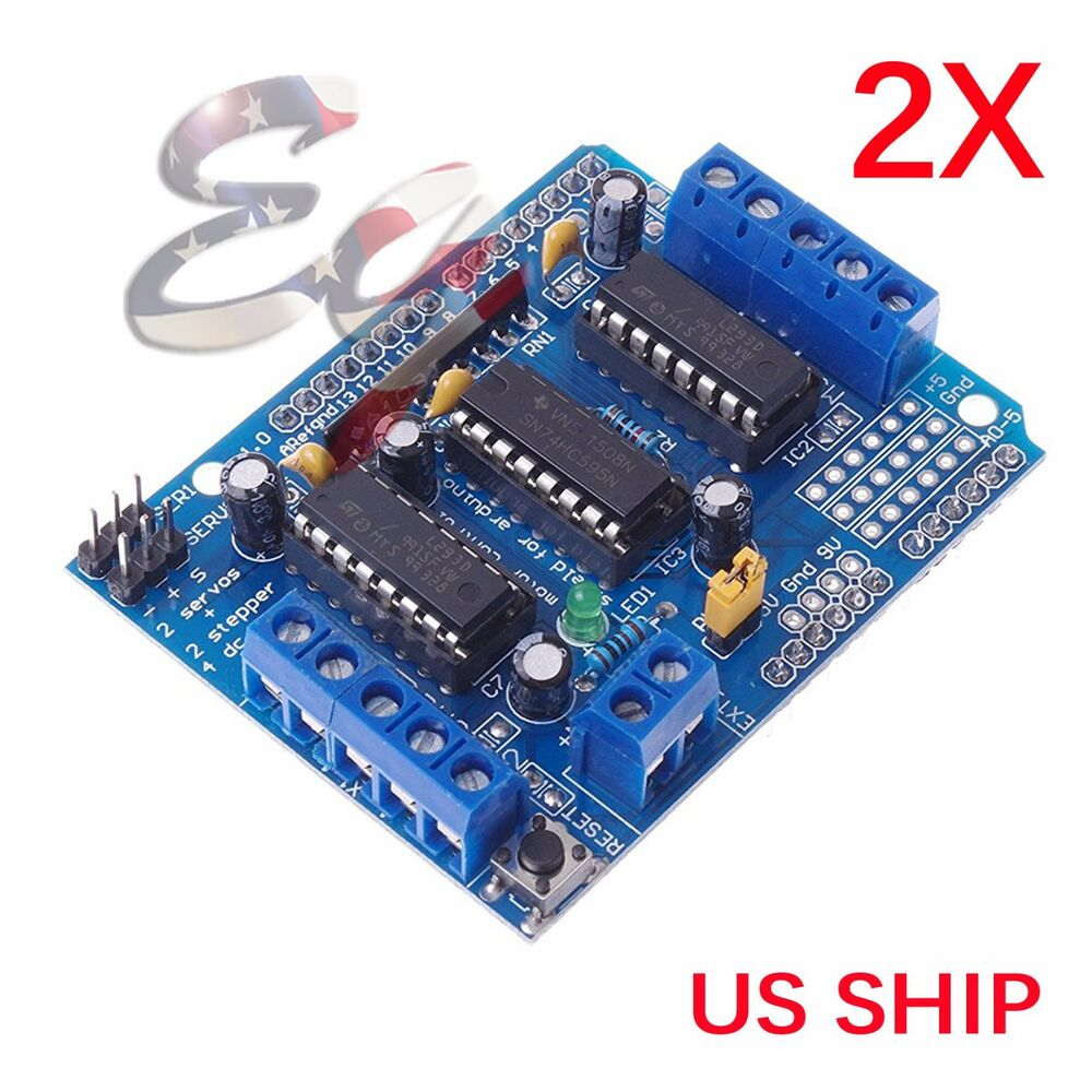 2x L293d Motor Drive Shield Expansion Board For Arduino