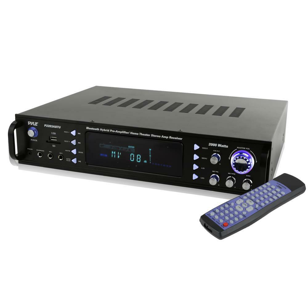 Home Theater Receiver : Pyle p abtu bluetooth hybrid pre amplifier home theater