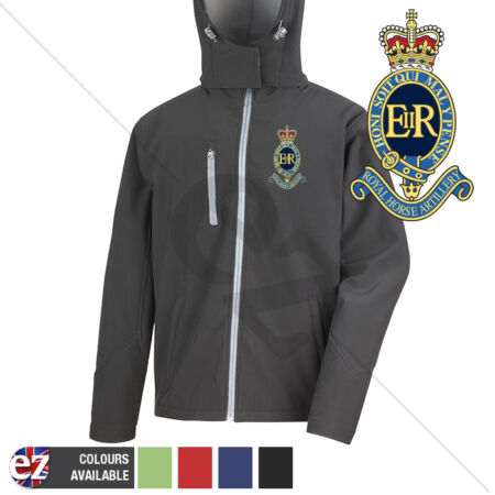 img-1 Royal Horse Artillery - Hooded Softshell Jacket - Personalised text available