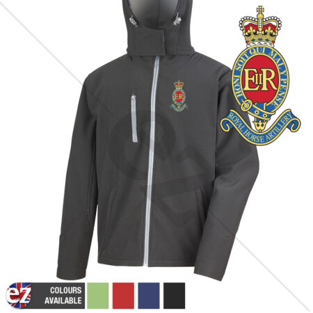 img-3 Royal Horse Artillery - Hooded Softshell Jacket - Personalised text available
