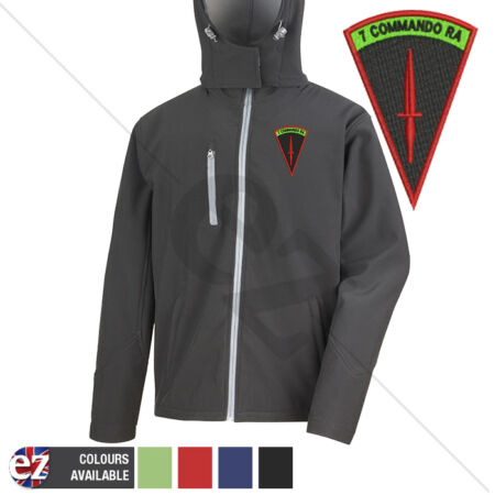 img-7 Commando RA - Hooded Softshell Jacket - Personalised text available
