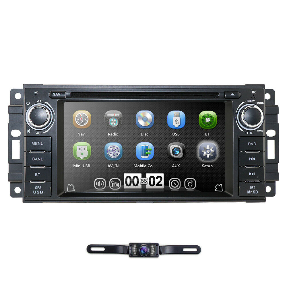Car Stereo Radio DVD Player GPS Navigation For Jeep