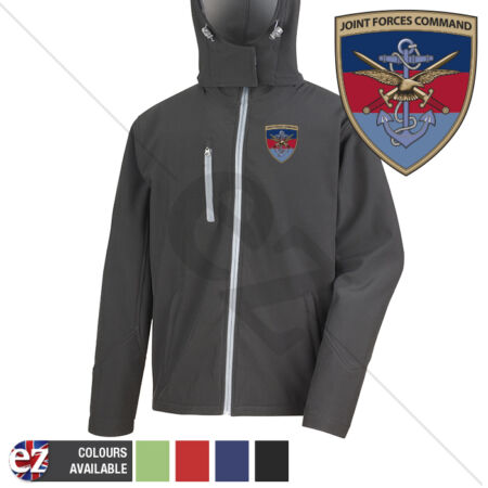 img-Joint Forces Command - Hooded Softshell Jacket - Personalisation