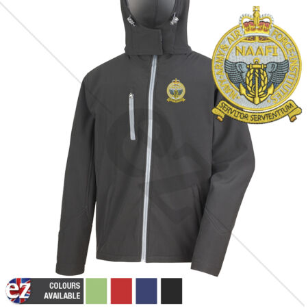 img-Navy Army Air Force Institutes - Hooded Softshell Jacket - Personalisation