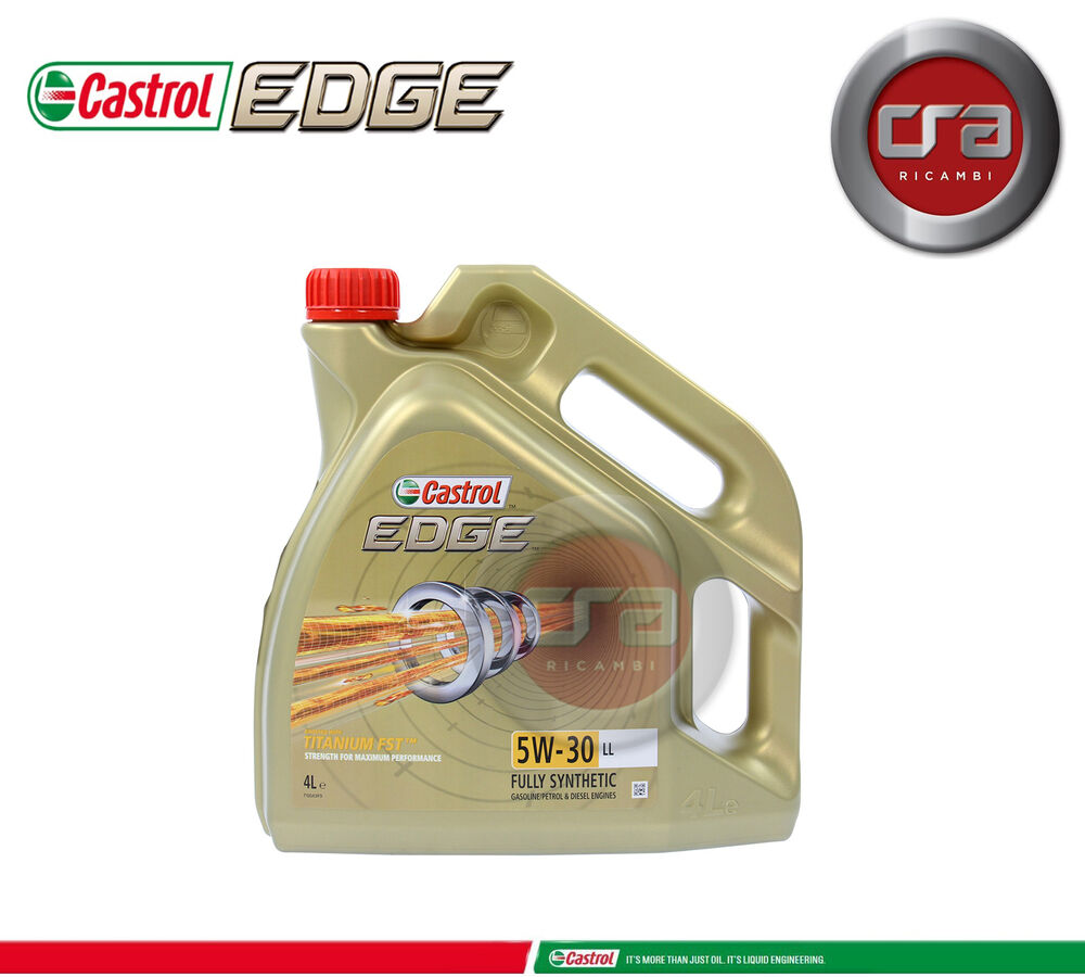 4 lt olio motore castrol edge 5w30 fst tagliando longlife. Black Bedroom Furniture Sets. Home Design Ideas