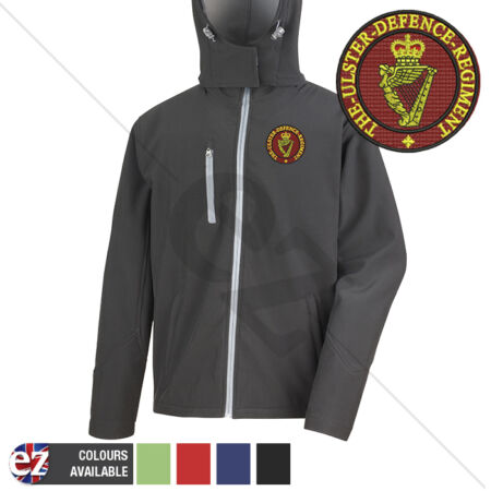 img-Ulster Defence Regiment - Hooded Softshell Jacket - Personalisation