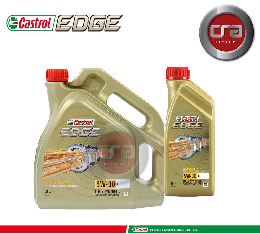 5 lt olio motore castrol edge 5w30 fst tagliando longlife. Black Bedroom Furniture Sets. Home Design Ideas