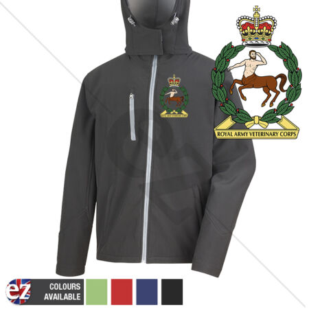 img-Royal Army Veterinary Corps - Hooded Softshell Jacket - Personalisation