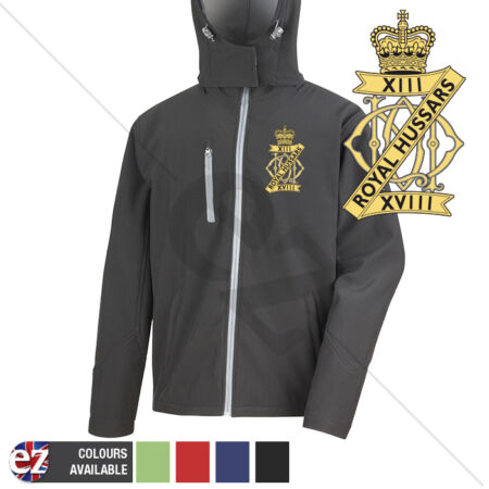 img-13th18th Royal Hussars - Hooded Softshell Jacket - Personalisation