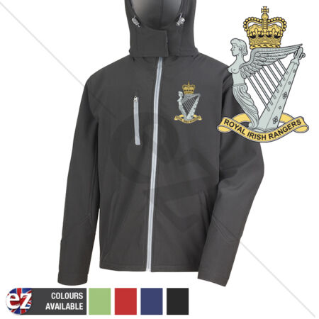 img-Royal Irish Rangers - Hooded Softshell Jacket - Personalisation