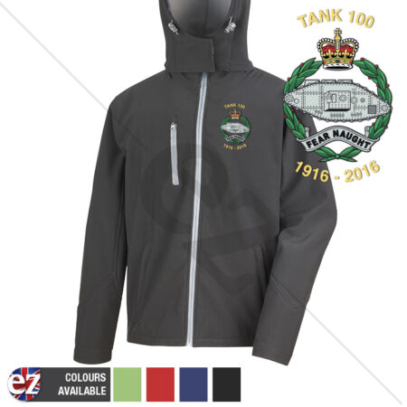 img-Royal Tank Regiment 1916-2016 - Hooded Softshell Jacket - Personalisation