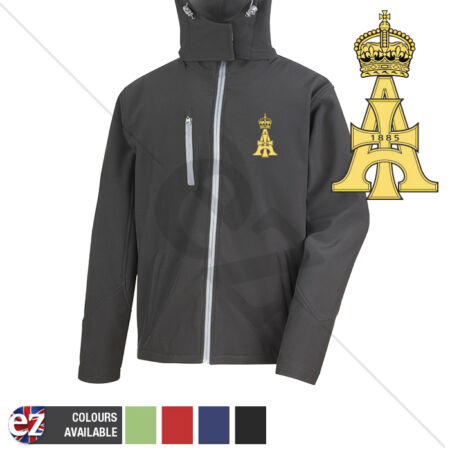 img-19th Royal Lancers - Hooded Softshell Jacket - Personalisation