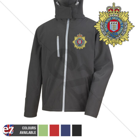 img-Royal Logistics Corps - Hooded Softshell Jacket - Personalisation