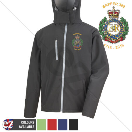 img-Sapper 300 1716-2016 - Hooded Softshell Jacket - Personalisation