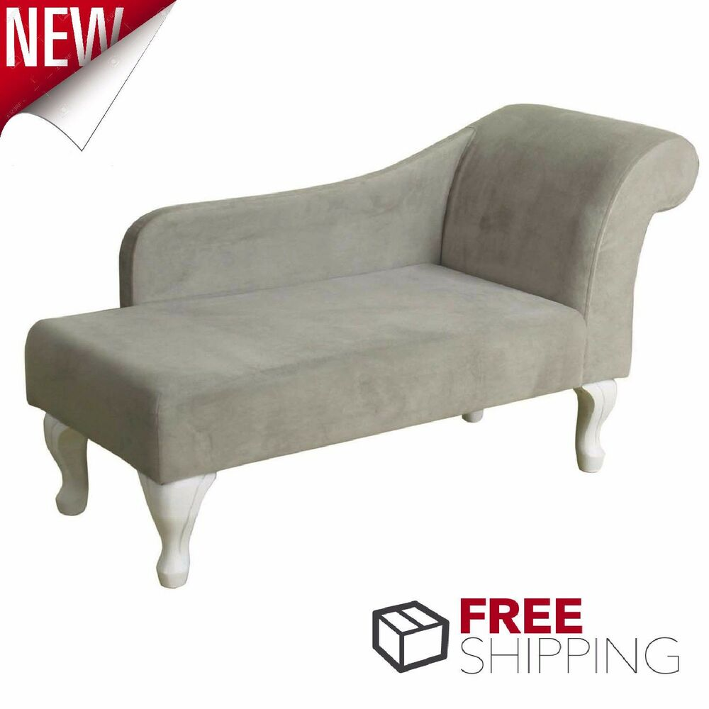Chaise lounge chair gray suede lounger living room for Chaise lounge chair living room