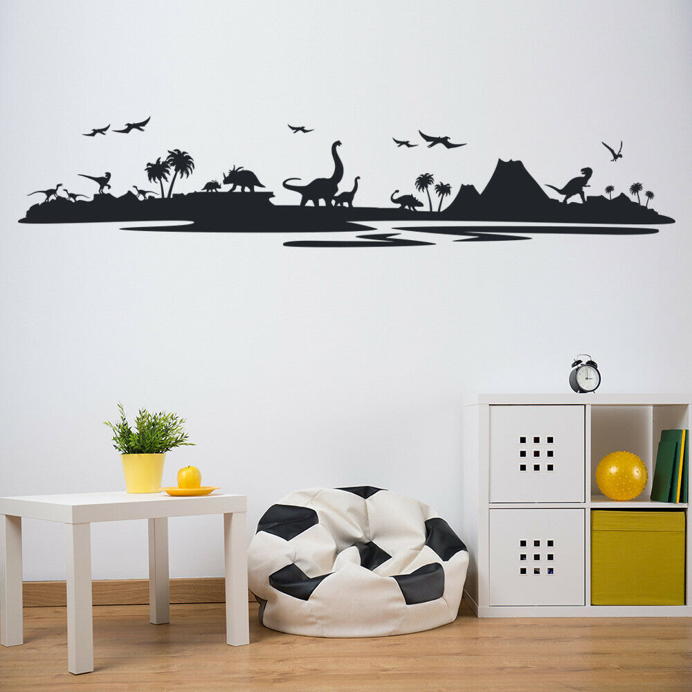 Dinosaur Landscape Wall Sticker Jurassic Park Wall Decal ...