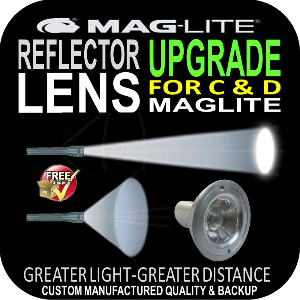 Maglite Reflector Lens Upgrade For Flashlight Torch C Amp D