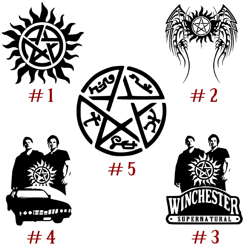 Supernatural Vinyl Decal Sticker Anti Possession Symbol