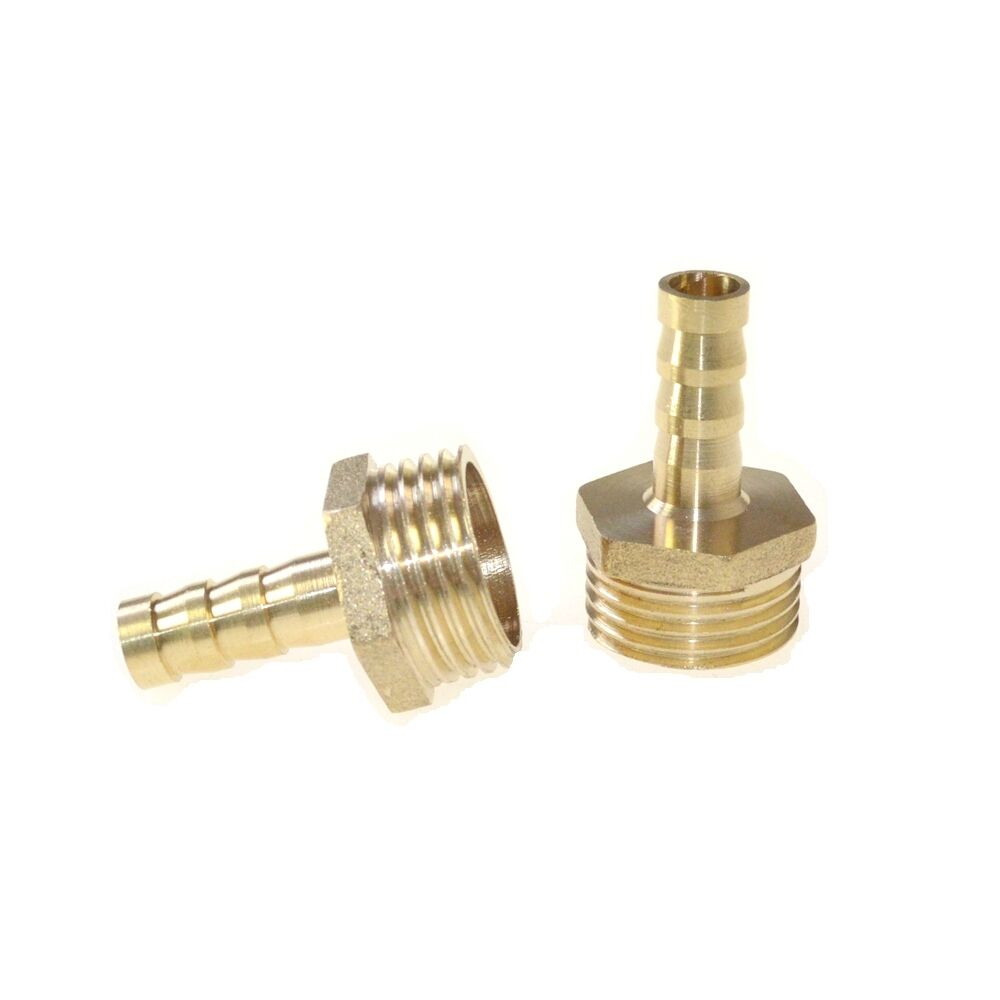 Pcs mm male quot hose barbed tube brass fitting