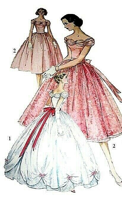 180 BALL GOWN WITH OVER SKIRT Pattern for Fashion Dolls | eBay
