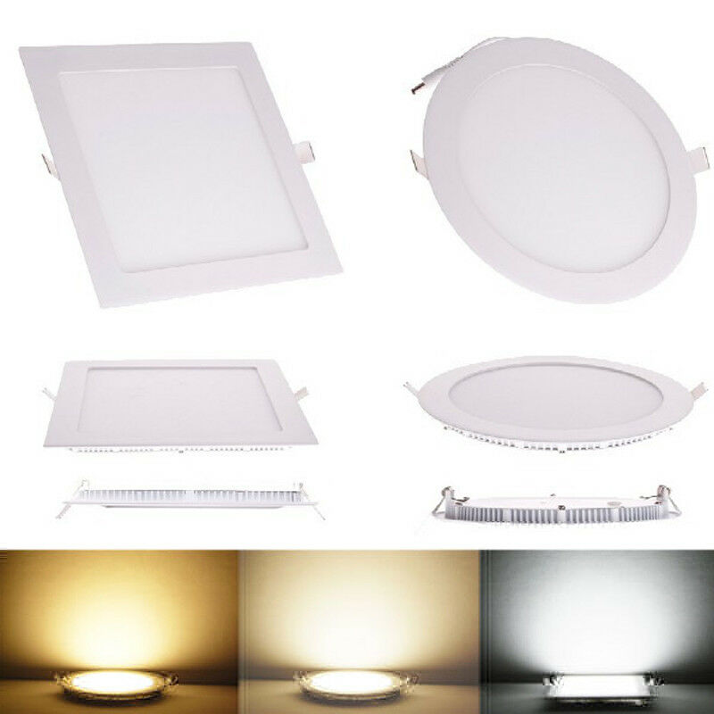 6w 12w 18w 24w Led Recessed Ceiling Flat Panel Down Light: Recessed LED Panel Light Epistar 3W 6W 9W 12W 15W 18W