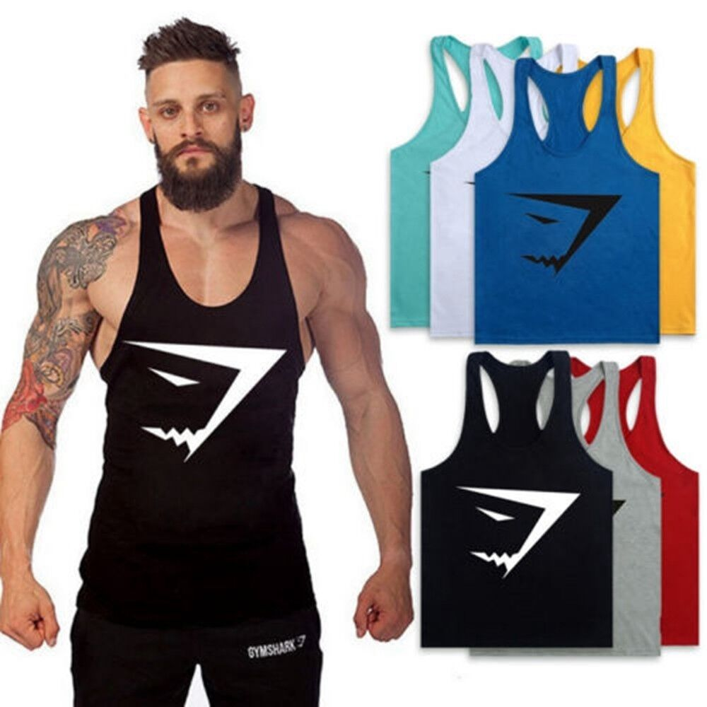 a7d470c480a62 Details about Hot Men Gym Clothing Bodybuilding Stringer Hoodie Tank Top  Muscle hooded Shirt